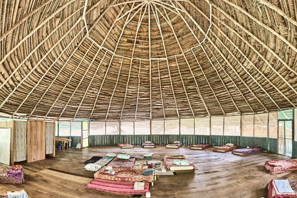 Maloca (Ceremony Space) - Casa Galactica - Chamisal Healing & Retreat Center - Ayahuasca Plant Spirit Healing Retreats & Master Plant Dietas