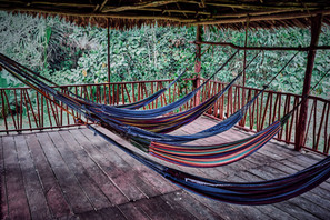 Hammocks - Socialize in the Amazon Jungle While You Integrate Your Ayahuasca Ceremony Experiences - Casa Galactica