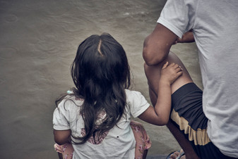 Bailey and her father in the Mishana Community - Casa Galactica - Ayahuasca Healing Retreats & Noya Rao Initiation Dietas