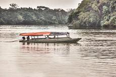 Boat on the Nanay River - Travelling through the Allpahuayo-Mishana National Reserve - Casa Galactica Ayahuasca Retreats & Master Plant Dietas