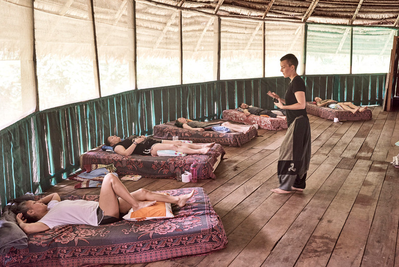 Restorative Yoga for Begginers - Ayahuasca Plant Spirit Healing Retreat - Casa Galactica
