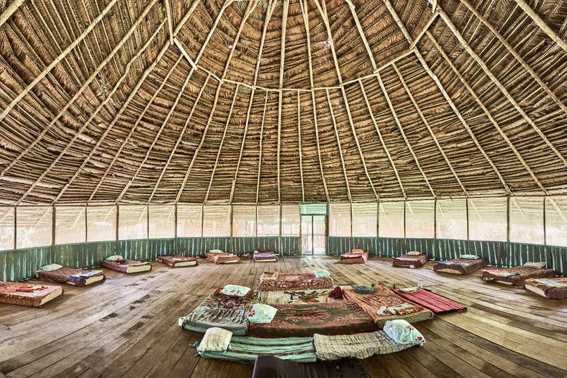 Naturally Made Maloca (Ceremony Space) - Casa Galactica - Chamisal Healing & Retreat Center - Ayahuasca Plant Spirit Healing Retreats & Noya Rao Initiation Dietas