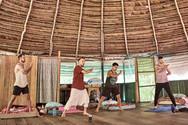 Daoist Yin 5 Qi Gong Practice at Safe Ayahuasca Plant Spirit Healing Retreat in Peru