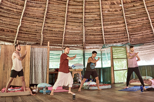 Daoist Yin 5 Qi Gong Practice at Safe Ayahuasca Plant Spirit Healing Retreat in Peru