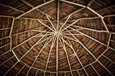 Maloca Roof at Chamisal Retreat Center - Indigenous Engineering at It's Finest! - Amazon Rainforest - Casa Galactica