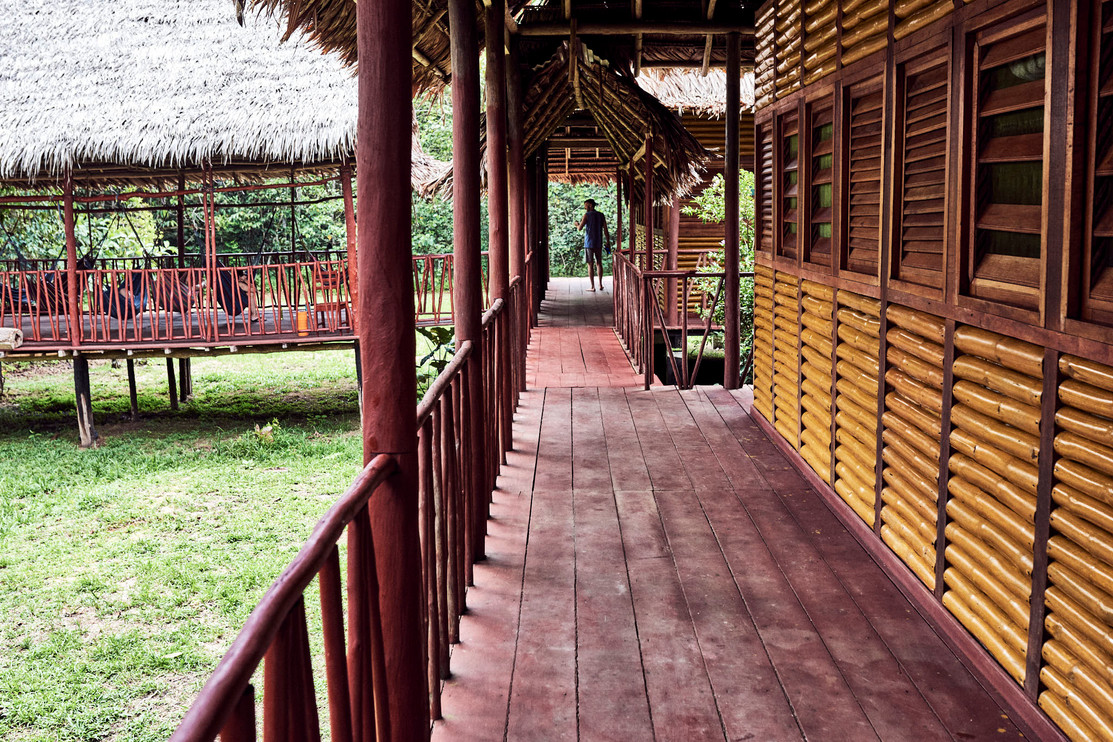 Chamisal Retreat Centre - Walkway and Accommodation - Private Rooms - Ayahuasca Retreat Center - Casa Galactica