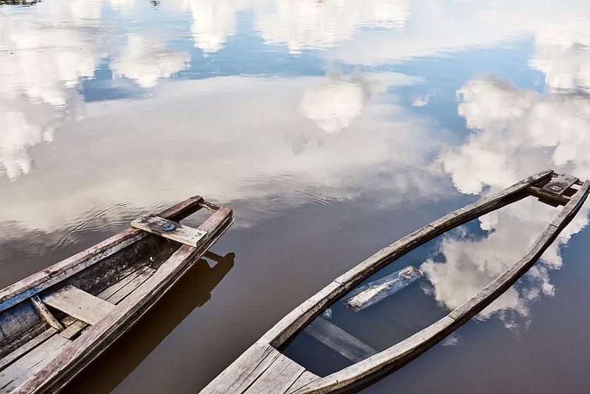 Local Fishing Boats at the Mishan Commun