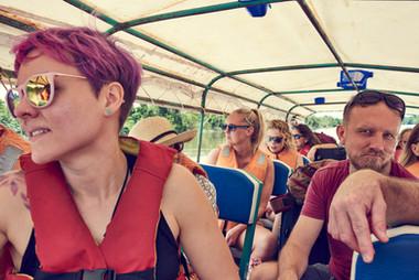 Fast Boat to the Mishana Community - Home of Chamisal Retreat Center -  2 Week Ayahuasca Plant Spirit Healing Retreat - Casa Galactica