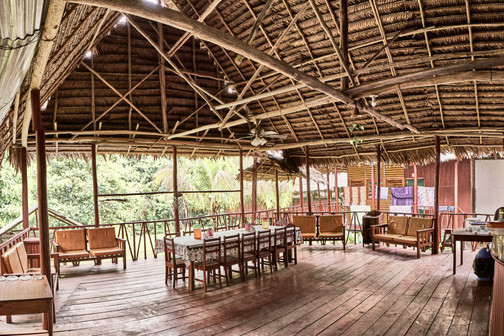 Open Air Dining Space at Chamisal Healing & Retreat Center - Casa Galactica - Ayahuasca Retreats & Noya Rao Dietas