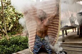 Traditional Palo Santo Smoke Bath - Plant Treatment in the Shipibo Tradition of Curanderismo - Powerful Smudging Techniques