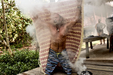 Traditional Palo Santo Smoke Bath - Plant Treatment in the Shipibo Tradition of Curanderismo - Powerful Smudging Techniques
