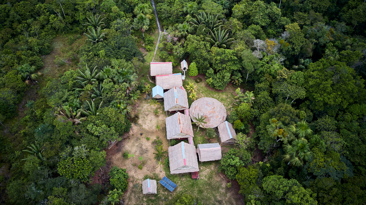 Beautiful Drone Shot of Chamisal Retreat Center - Home of Ayahuasca Plant Spirit Healing Retreats & Noya Rao Initiation Dietas at Casa Galactica
