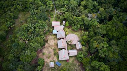 Beautiful Drone Shot of Chamisal Retreat Center - Home of Ayahuasca Plant Spirit Healing Retreats & Noya Rao Initiation Dietas at Casa Galactica