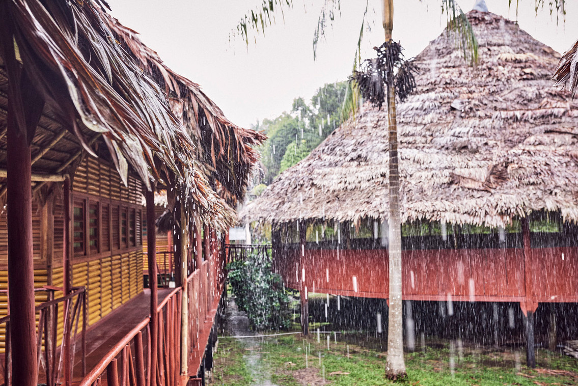 Rainfall at Chamisal Retreat Center - Finding Peace Within the Storm on Ayahuasca Retreats & Noya Rao Dietas - Casa Galactica