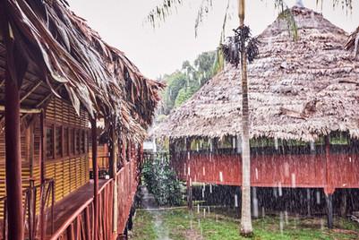 Rainfall at Chamisal Retreat Center - Finding Peace Within the Storm on Ayahuasca Retreats & Noya Rao Dietas - Casa Galactica