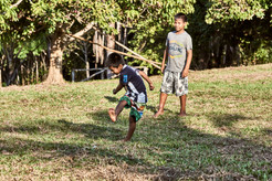 Children Playing Soccer in the jungle - The Mishana Community - Home of Channeling + Plant Spirit Healing Retreats & Dietas at Casa Galactica