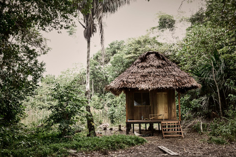 Michael's Hut at Chamisal Retreat Center - Located on Site and Available 24/7 - Safe Ayahuasca Practices at Casa Galactica