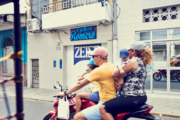 Motorcycles in Iqutios - a Typical Site When You Explore Iqutios Before Your Ayahuasca Retreat at Casa Galactica
