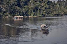 Boats travelling to remote Mishana Community in the Amazon Rainforest - Ayahuasca Retreats & Noya Rao Dietas