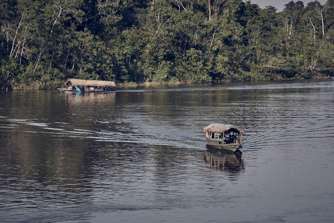 Boats travelling to remote Mishana Community in the Amazon Rainforest - Ayahuasca Retreats & Noya Rao Dietas