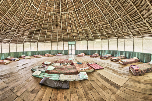 Maloca (Ceremony Space) - Casa Galactica - Chamisal Healing & Retreat Center - Ayahuasca Plant Spirit Healing Retreats & Noya Rao Initiation Dietas