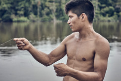 Ayahuasca Healing Retreat Fishing Lesson - Connect with the River Nanay - The Mishana Community