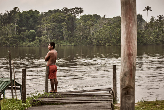 Swimming in the the river in the Amazon Rainforest  = Relaxin on our Ayahuasca Plant Spirit HEaling Retreats - Casa Galactica