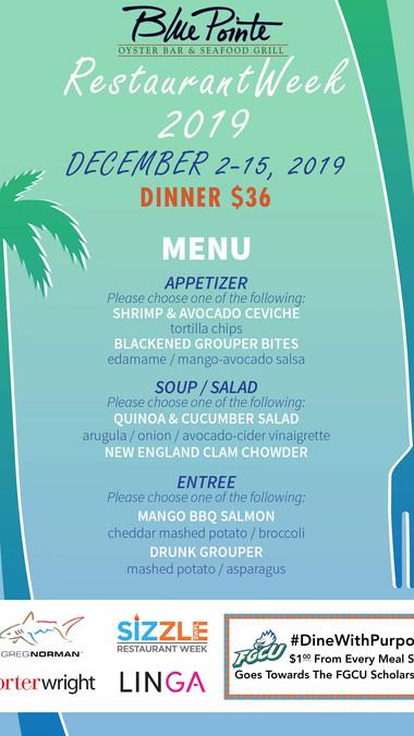 Blue Pointe - DINNER