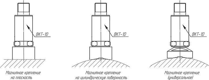 Магнитное крепление датчика ВКТ-10