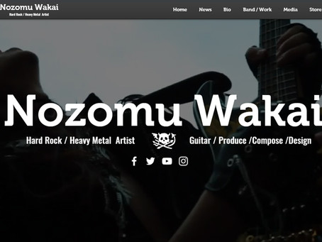 NOZOMU WAKAI WEB has been redesigned.