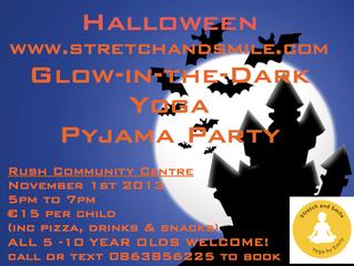 Halloween Glow in the Dark Yoga Pyjama Party
