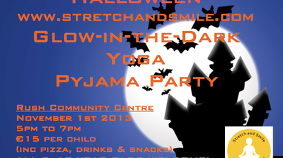 Halloween Glow in the Dark Yoga Pyjama Party