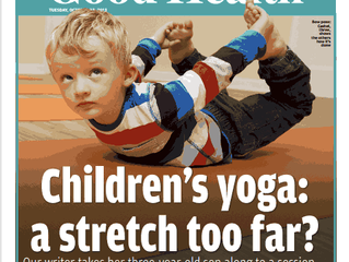 Feature on Stretch and Smile kids yoga in the Irish Daily Mail