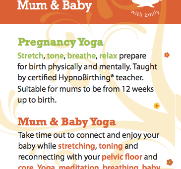 Pregnancy Yoga | Mum & Baby Yoga in Rush and Donabate Summer 2015
