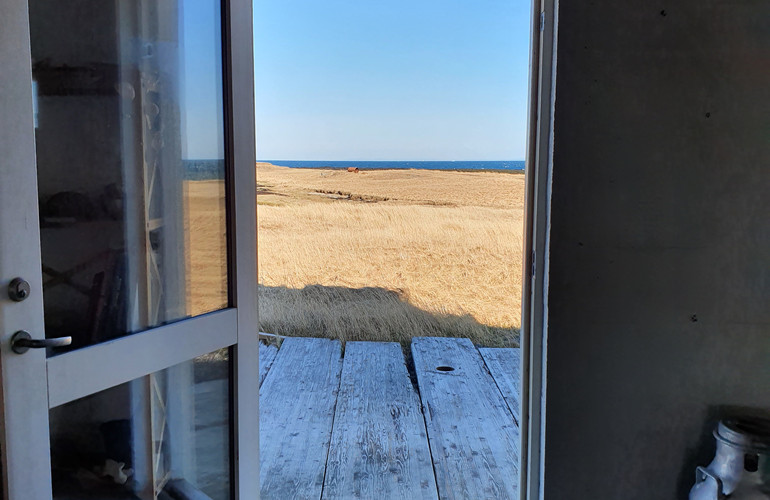 Downstairs Back Studio Looking Out at Sea