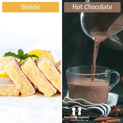 Hot chocolate/Lemon Blondie
