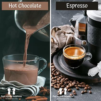 Espresso/Hot Chocolate+Brownie x 2
