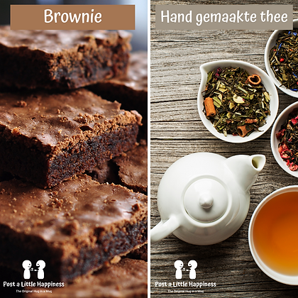 Hand made tea/Brownie