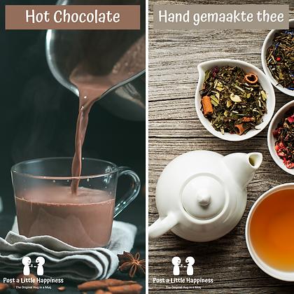 Tea+Blondie/Hot Chocolate +Brownie