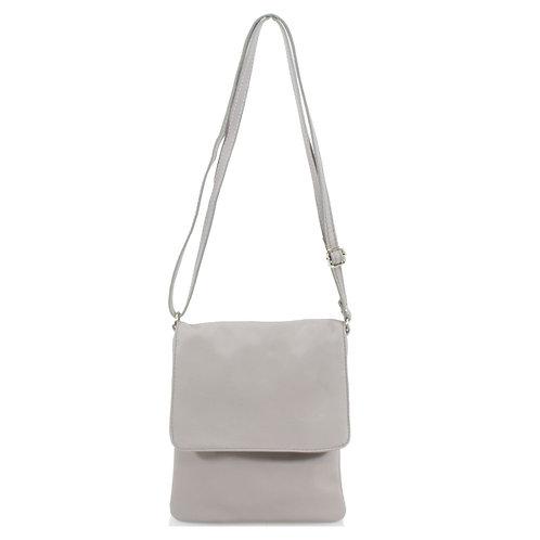 Italian Leather Handbag - Grey