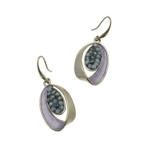 Purple Oval Earrings