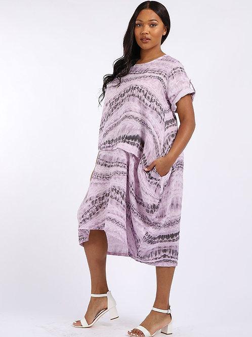Tie Dye Dress - Lilac
