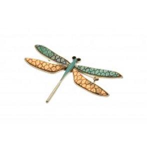 Miss Milly Dragonfly Brooch - Blue