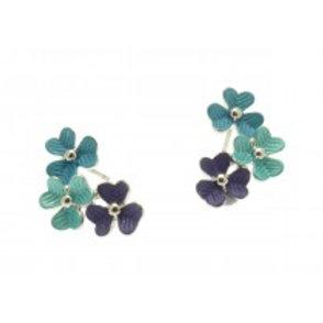 Miss Milly Flower Earrings - Blue