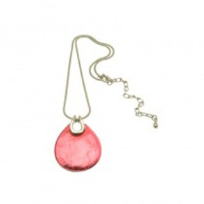 Miss Milly Teardrop Necklace - Pink