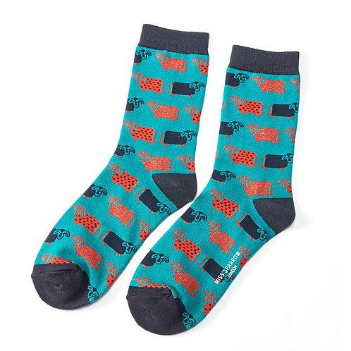 Cow Bamboo Socks