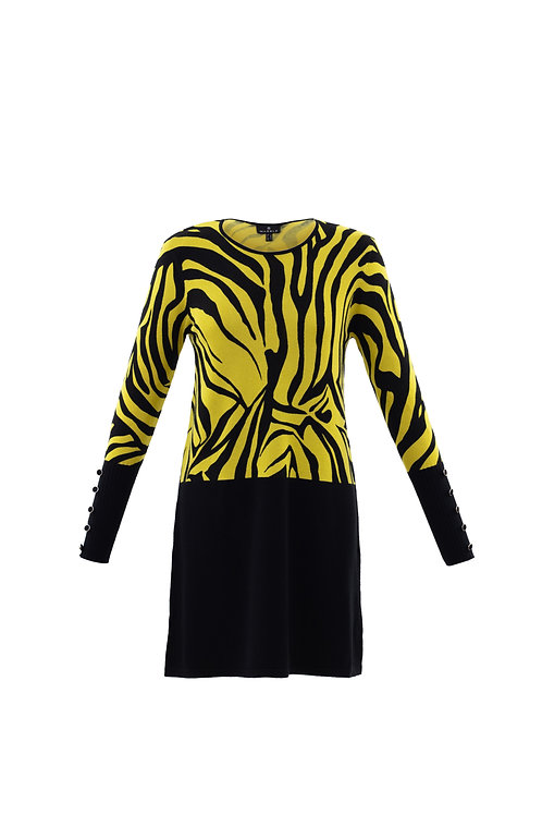 Marble Yellow Zebra Stripe Tunic