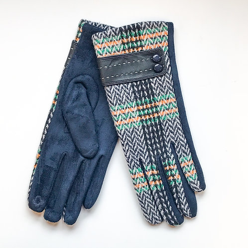 Blue Aztec Gloves