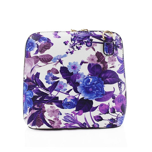 Floral Handbag - Purple