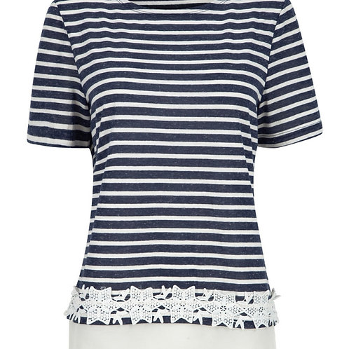 Embroidered Stripe T - Shirt